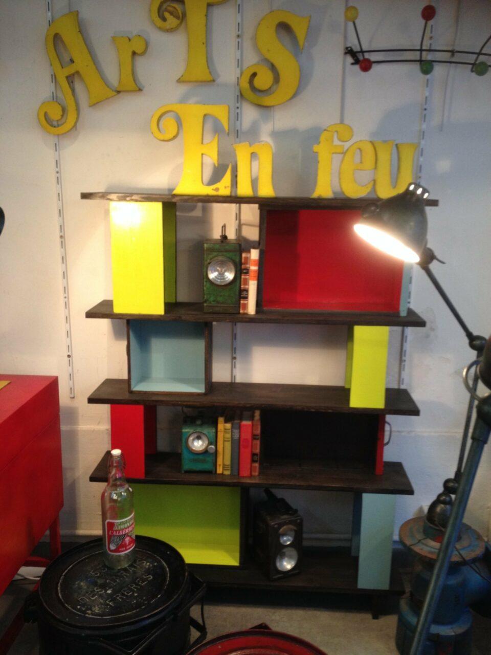5 bibliothéque tiroirs