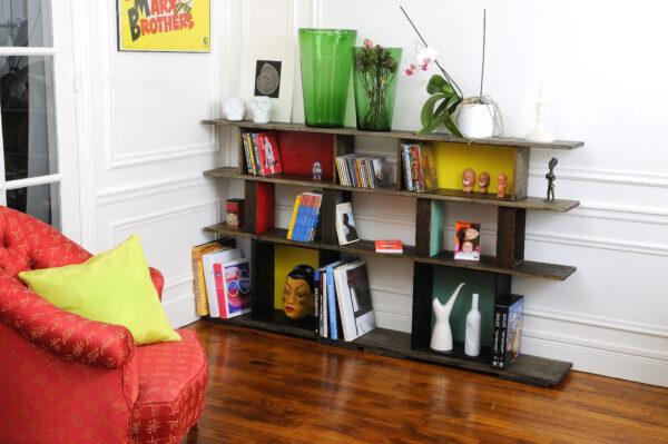 9 bibliothéque tiroirs