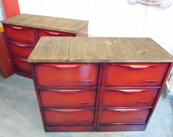 Enfilade 3x4 clapets rouge 2