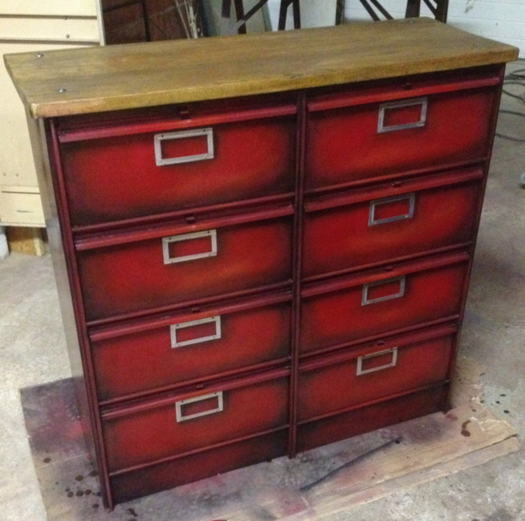 Enfilade 4x2 clapets rouge 2