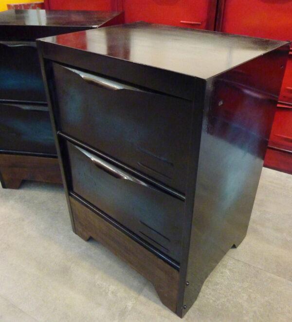meuble a clapet table de chevet patine verte 2