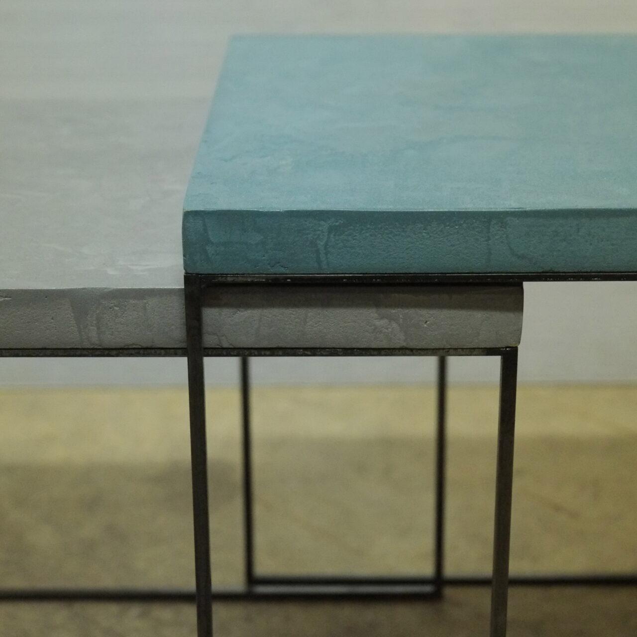 2Tavolino Cementino Tables gigogne béton ciré