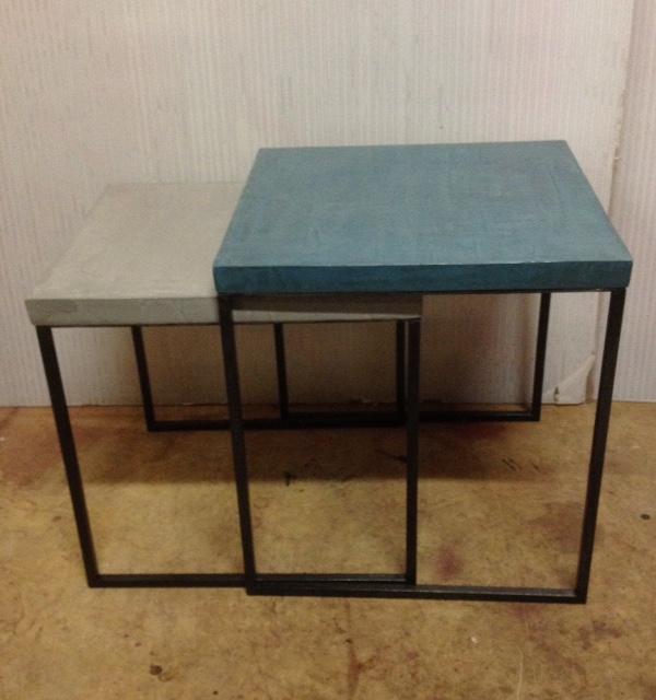 4Tavolino Cementino Tables gigogne béton ciré