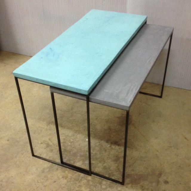 9Tavolino Cementino Tables gigogne béton ciré