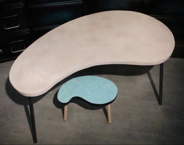 10 tables basse tripodes haricot sur mesure piece unique DSC03082