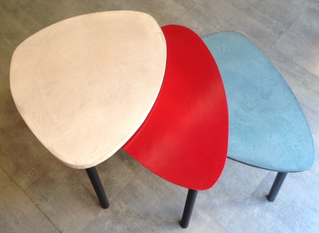 2 Table basse sur mesure tripode gigogne en béton ciré vintage annacoloreindustriale.com FullSizeRender 11