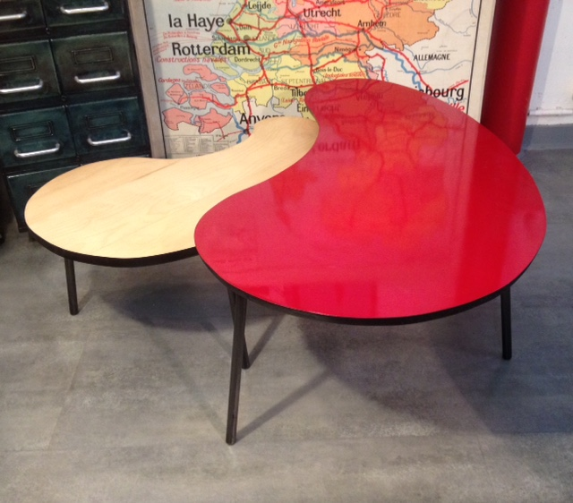 3 Table basse tripode haricot sur mesure beton 3