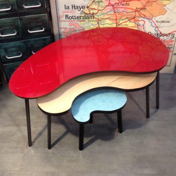 4 Table basse tripode haricot sur mesure beton 2