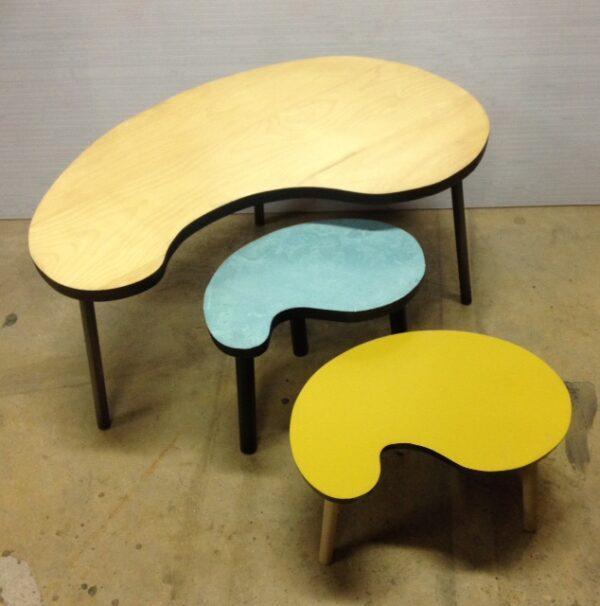 6 Table basse tripode haricot sur mesure beton 4