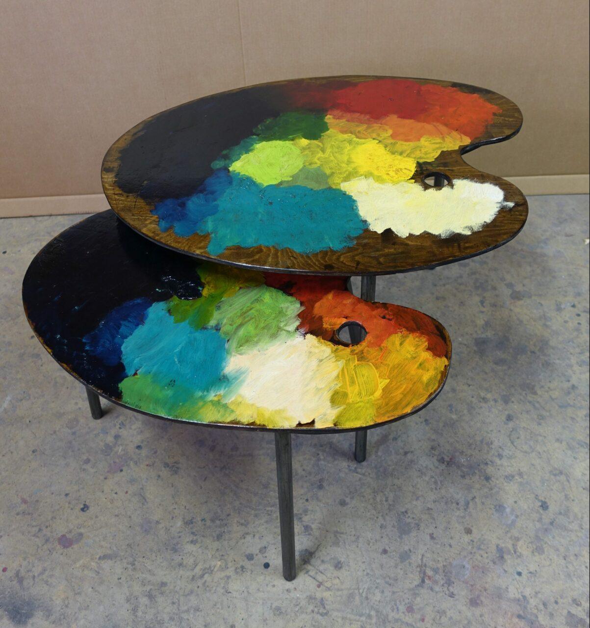 7 table basse tripodes gigogne palette de peintre sur mesure 3 DSC02715