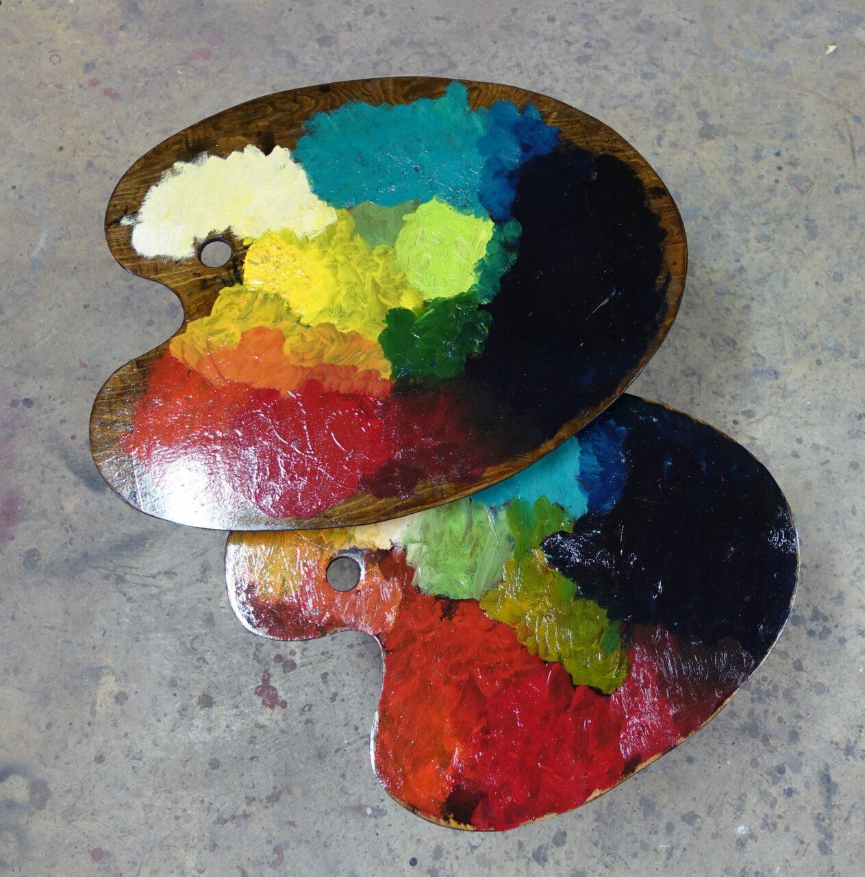9 table basse tripodes gigogne palette de peintre sur mesure DSC02708
