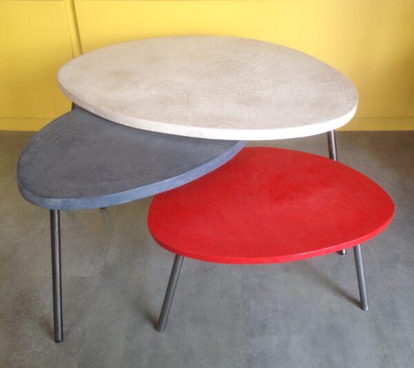 table basse gigogne tripode béton ciré mobilier industriel anna colore industriale 26