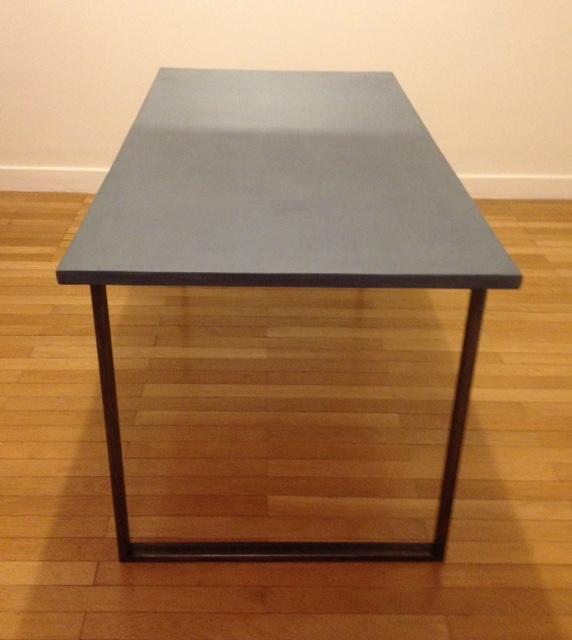 Table quadro béton ciré 4