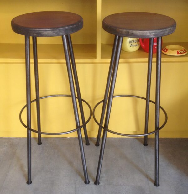 Tabouret industriel haut pour bar bistrot cuisine anna colore industriale 7 rue paul bert 75011 paris 10