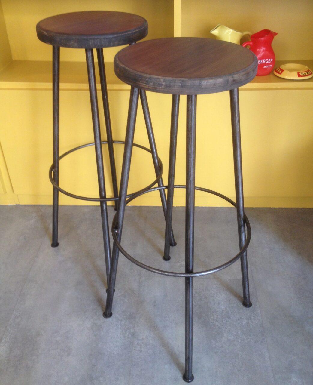 Tabouret industriel haut, mobilier industriel Anna colore industriale 7 rue Paul Bert 75011 Paris