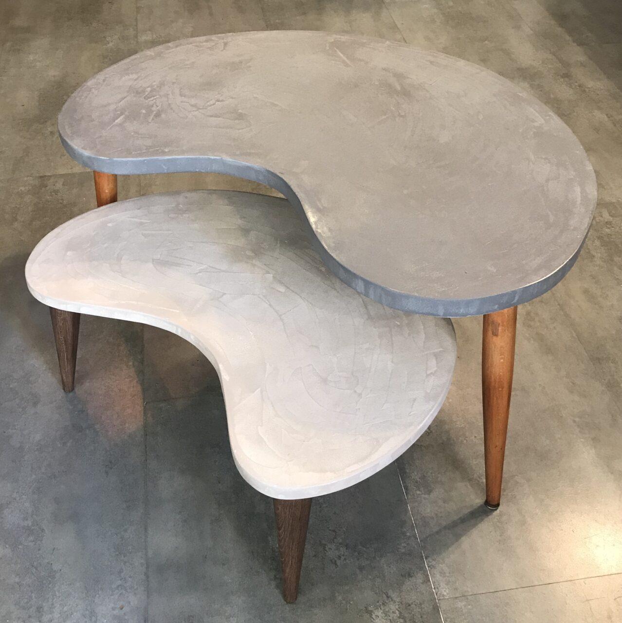 tables basses en b ton sur mesure banana meubles industriel anna colore industriale. Black Bedroom Furniture Sets. Home Design Ideas