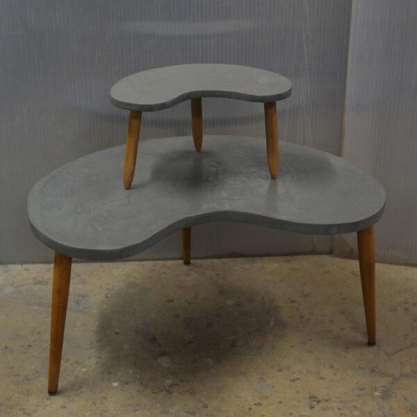 Table basse sur mesure en béton style vintage mobilier industriale Anna colore industriale 7rue Paul Bert 75011 Paris-1