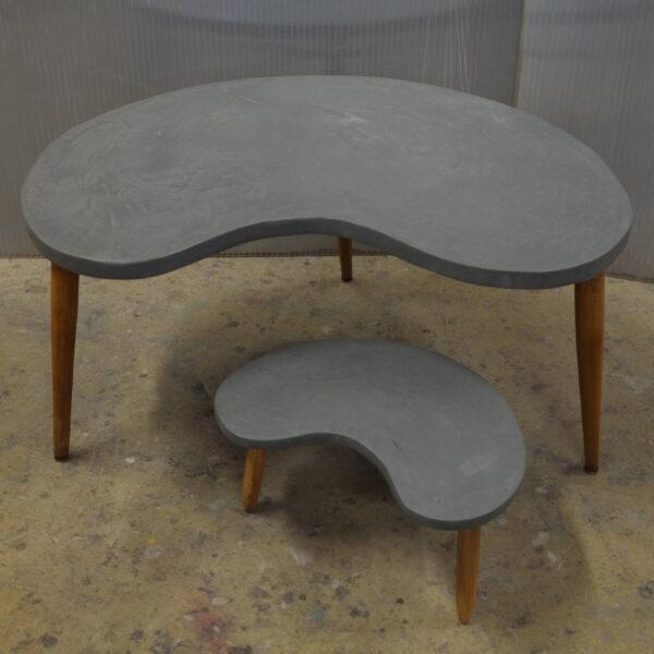 Table basse sur mesure en béton style vintage mobilier industriale Anna colore industriale 7rue Paul Bert 75011 Paris-2