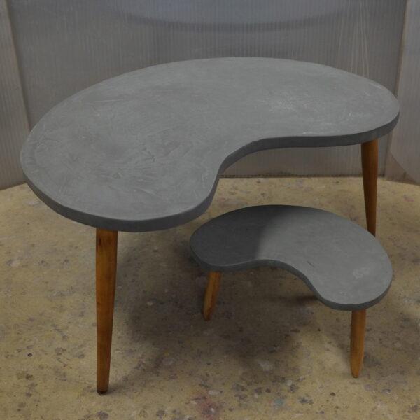 Table basse sur mesure en béton style vintage mobilier industriale Anna colore industriale 7rue Paul Bert 75011 Paris-3