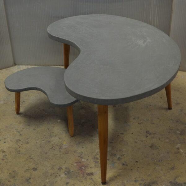 Table basse sur mesure en béton style vintage mobilier industriale Anna colore industriale 7rue Paul Bert 75011 Paris-4