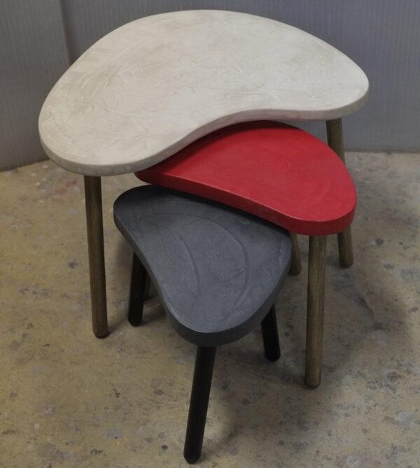 Table basse sur mesure en béton style vintage mobilier industriel Anna colore industriale 7 rue Paul Bert 75011 PARIS-12
