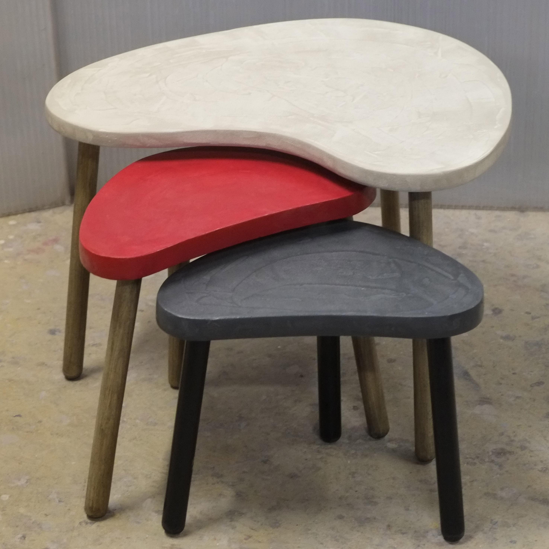 tables basses en b ton sur mesure boomerang meubles industriel anna colore industriale. Black Bedroom Furniture Sets. Home Design Ideas