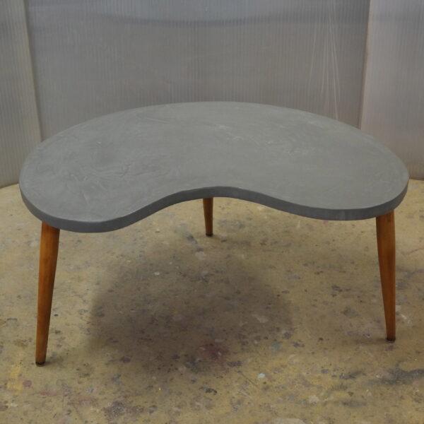 Table basse sur mesure en béton style vintage mobilier industriel Anna colore industriale 7 rue Paul Bert 75011 Paris-1