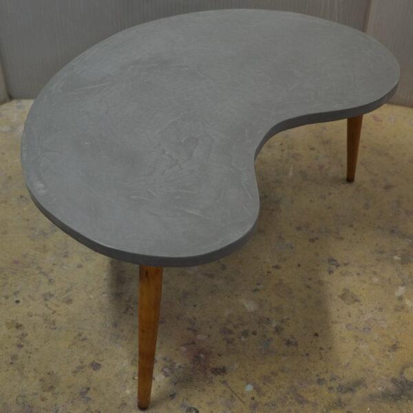 Table basse sur mesure en béton style vintage mobilier industriel Anna colore industriale 7 rue Paul Bert 75011 Paris-11