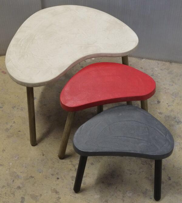 Table basse sur mesure en béton style vintage mobilier industriel Anna colore industriale 7 rue Paul Bert 75011 Paris-15
