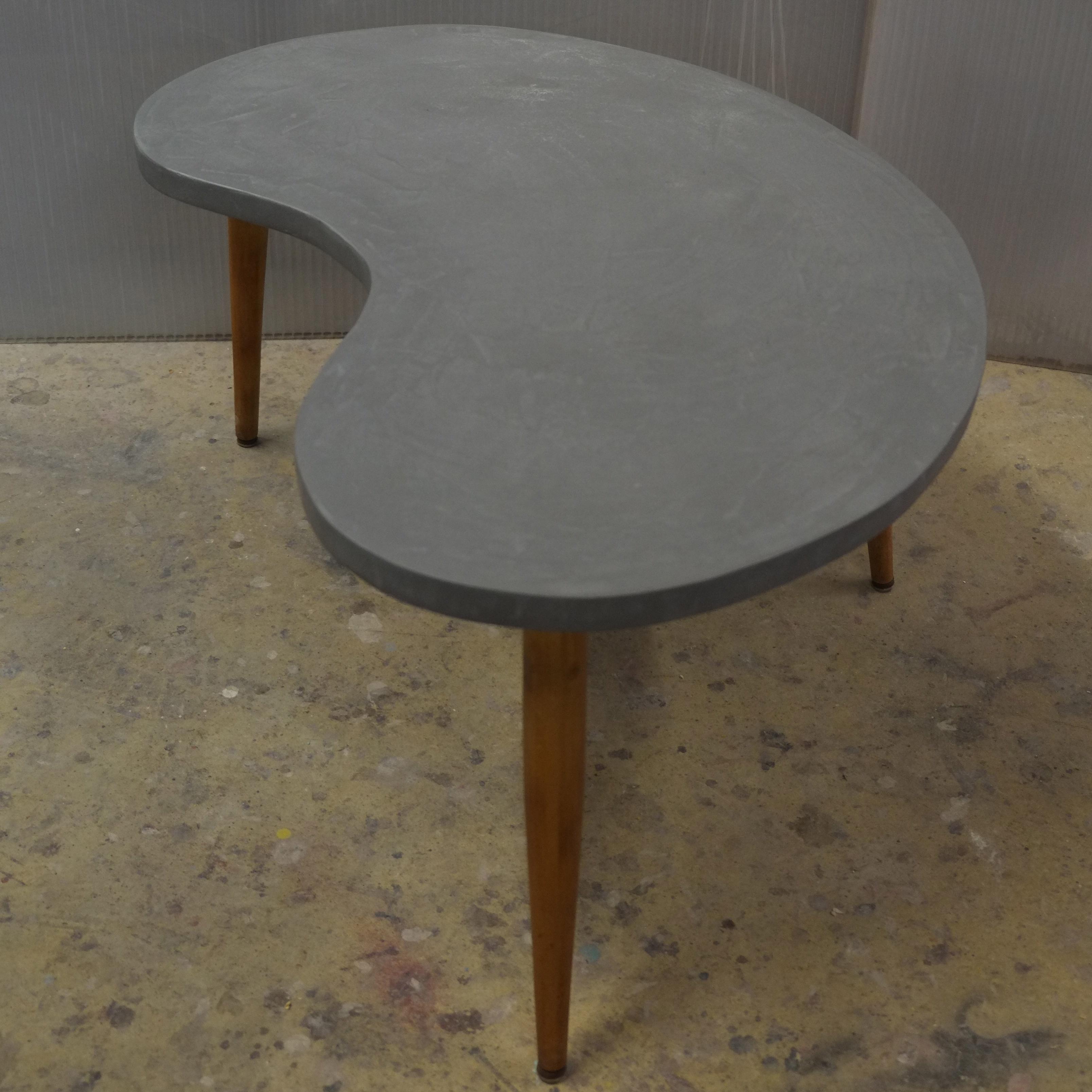 Tables basses en b ton sur mesure meubles industriel - Table design sur mesure ...