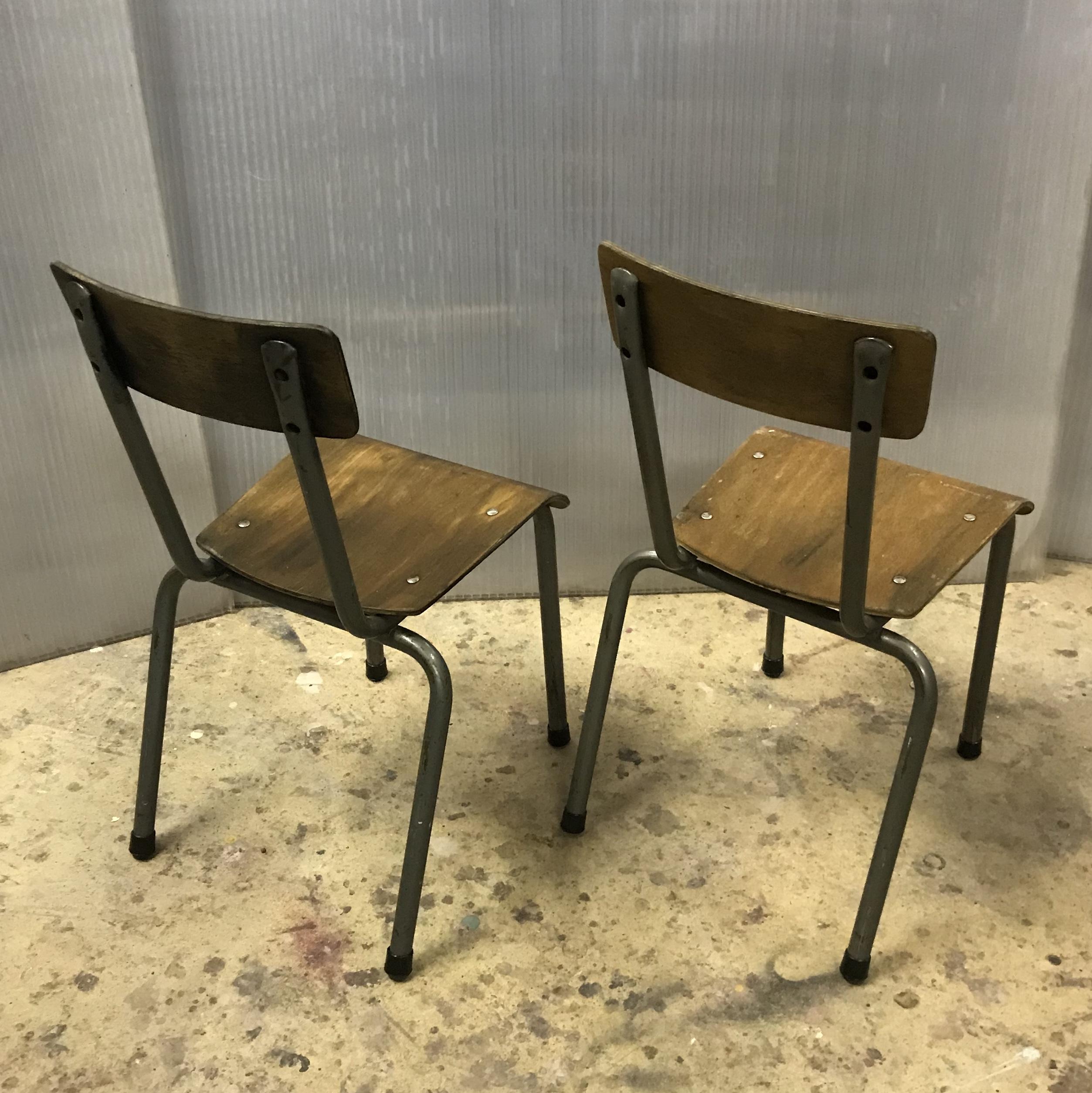 Chaise d 39 ecole enfant meubles industriel anna colore industriale - Chaise industrielle tolix ...