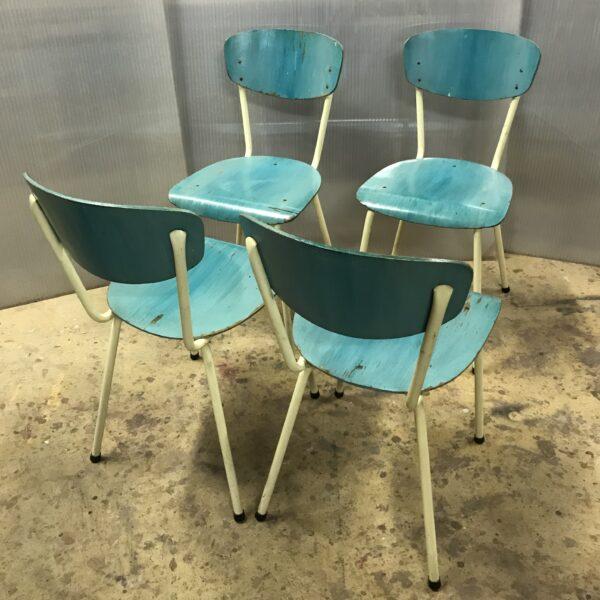 chaises vintage ancienne chaises metal bois turquoise chaises formica mobilier industriel meuble d usine chaise tolix ancienne chaise industrielle ancienne mobilier industriel vintage -5