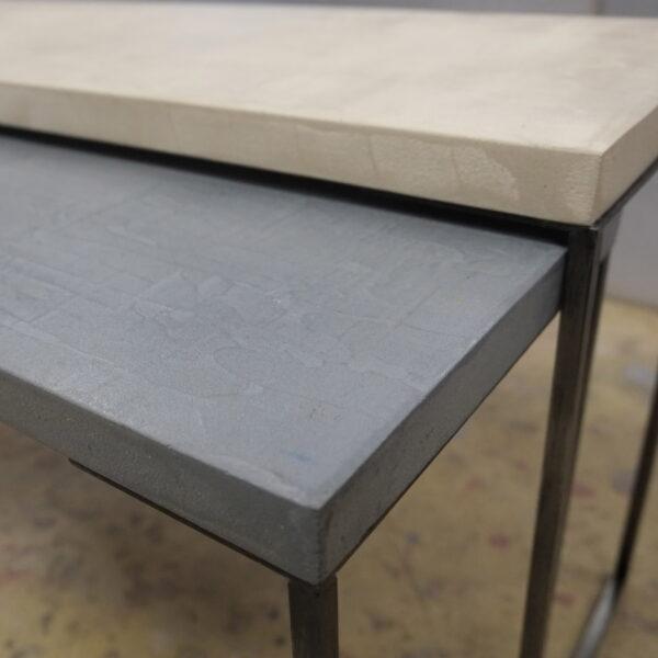 mobilier industriel table basse en béton sur mesure tables gigogne béton ciré design italien Anna Farina fabrication française meuble d usine mobilier industriel vintage-16