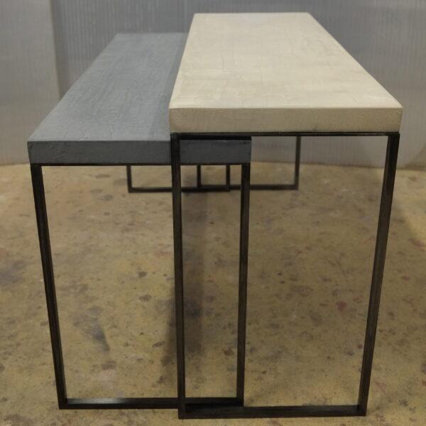 mobilier industriel table basse en béton sur mesure tables gigogne béton ciré design italien Anna Farina fabrication française meuble d usine mobilier industriel vintage-29