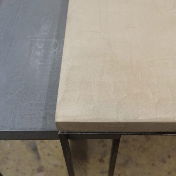 mobilier industriel table basse en béton sur mesure tables gigogne béton ciré design italien Anna Farina fabrication française meuble d usine mobilier industriel vintage-31