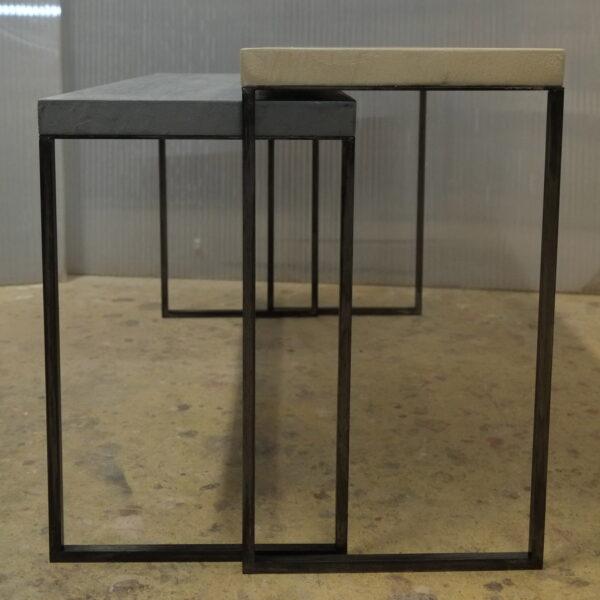 mobilier industriel table basse en béton sur mesure tables gigogne béton ciré design italien Anna Farina fabrication française meuble d usine mobilier industriel vintage-35