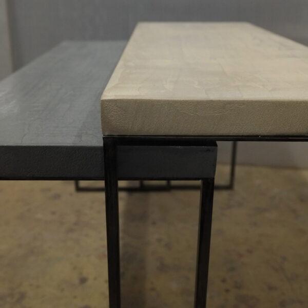 mobilier industriel table basse en béton sur mesure tables gigogne béton ciré design italien Anna Farina fabrication française meuble d usine mobilier industriel vintage-40