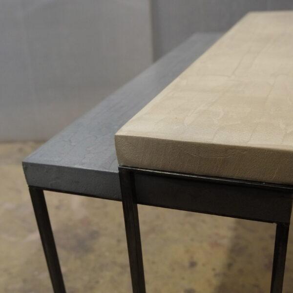mobilier industriel table basse en béton sur mesure tables gigogne béton ciré design italien Anna Farina fabrication française meuble d usine mobilier industriel vintage-54