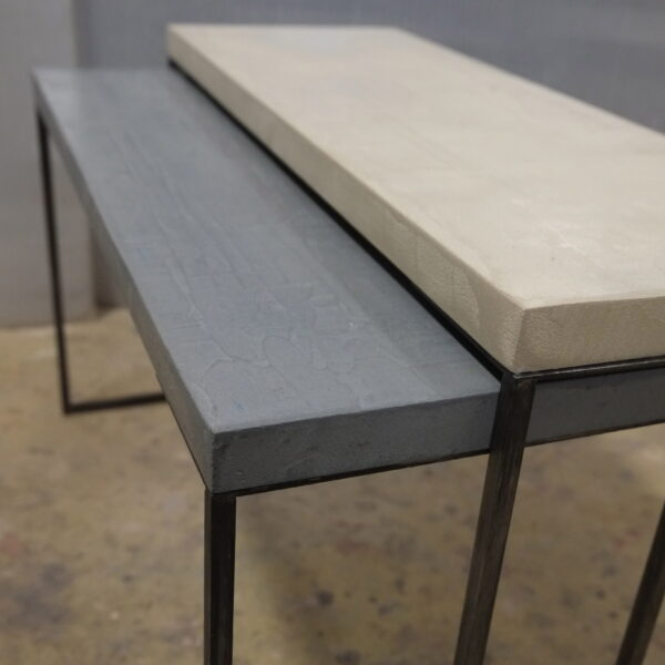 mobilier industriel table basse en béton sur mesure tables gigogne béton ciré design italien Anna Farina fabrication française meuble d usine mobilier industriel vintage-60