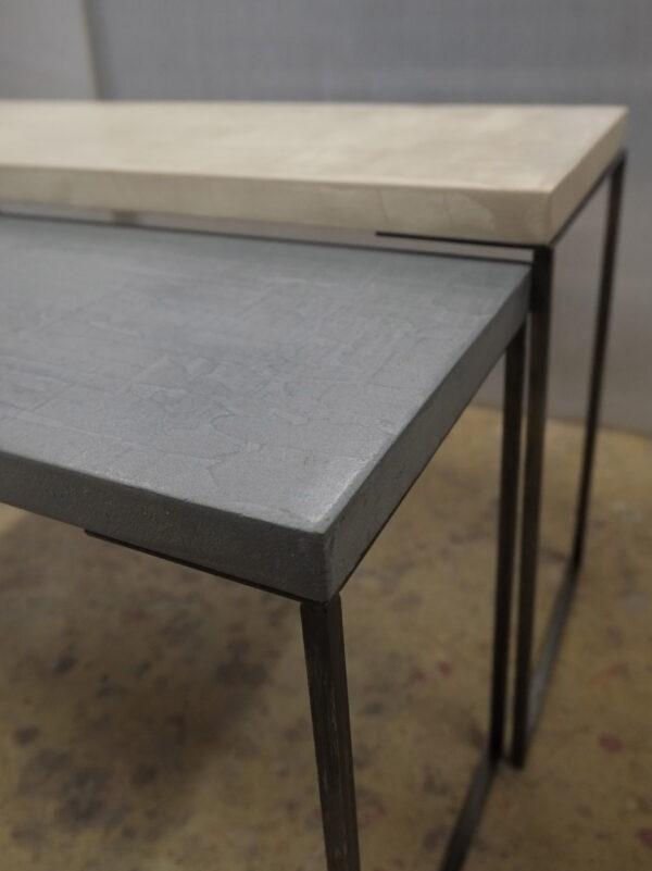 mobilier industriel table basse en béton sur mesure tables gigogne béton ciré design italien Anna Farina fabrication française meuble d usine mobilier industriel vintage-9