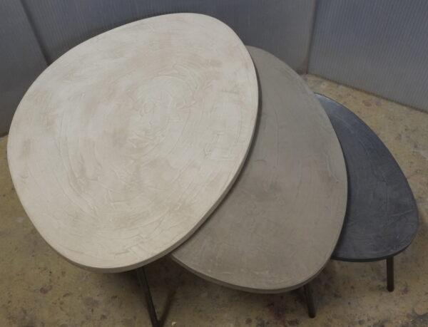 table basse en béton sur mesure tables gigogne tables tripodes design italien Anna Farina fabriqués à Paris mobilier industriel vintage Anna colore industriale-52