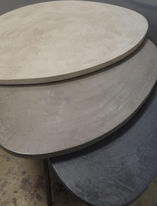 table basse en béton sur mesure tables gigogne tables tripodes design italien Anna Farina fabriqués à Paris mobilier industriel vintage Anna colore industriale-55