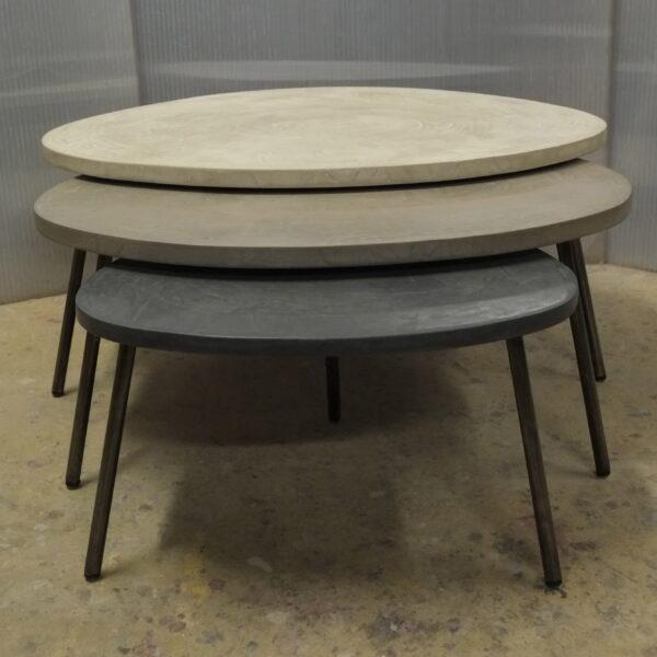 table basse en béton sur mesure tables gigogne tables tripodes design italien Anna Farina fabriqués à Paris mobilier industriel vintage Anna colore industriale-9
