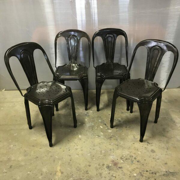 4-chaise Multipli's Joseph Mathieu Lyon 1922 chaise de bistrot mobilier industriel anna colore industriale
