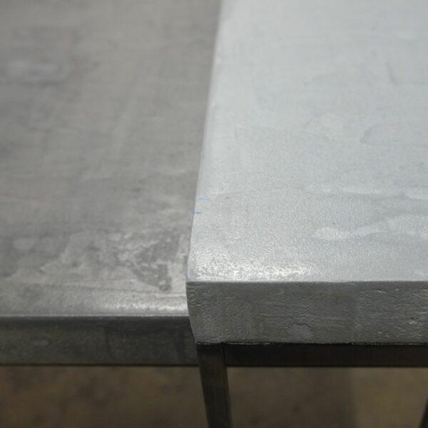48 bis-Table basse en béton acier sur mesure mobilier industriel pièce unique design italien Anna Farina fabrication artisanal Anna colore industriale