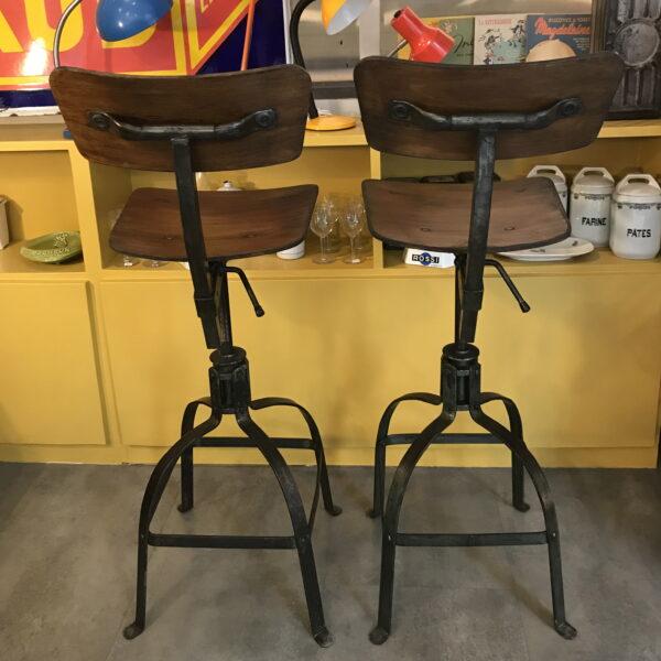 chaise industriel bienaise mobilier industriel Anna colore industriale-12