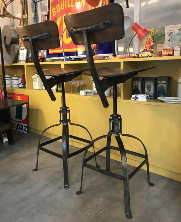 chaise industriel bienaise mobilier industriel Anna colore industriale-13