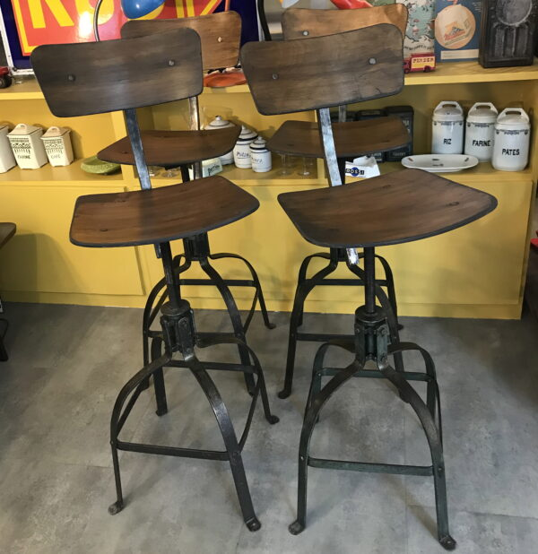 chaise industriel bienaise mobilier industriel Anna colore industriale-6
