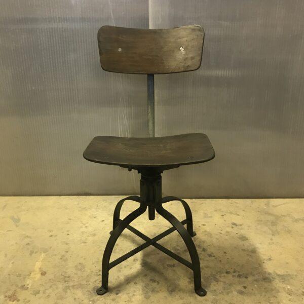 Chaise de metier Bienaise Anna colore industriale-5