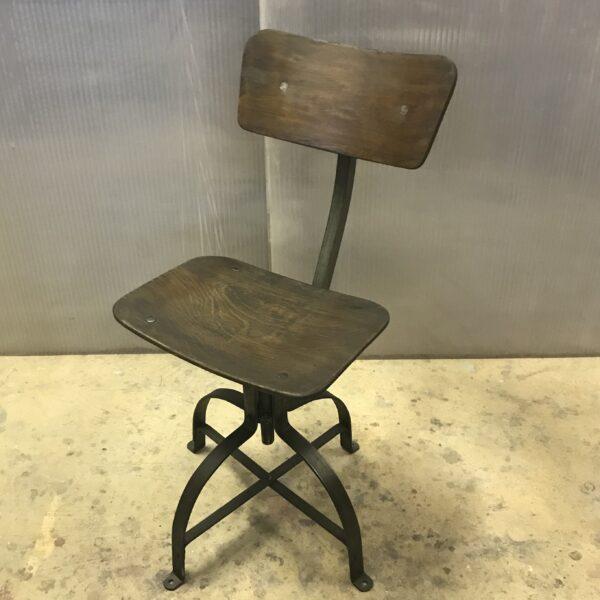 Chaise de metier Bienaise Anna colore industriale-6